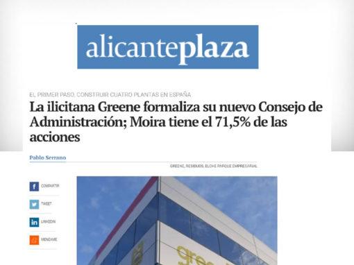 La ilicitana Greene formaliza su nuevo Consejo de Administración; Moira tiene el 71,5% de las acciones