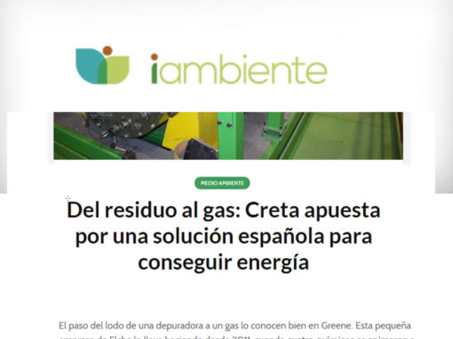 Del residuo al gas: Creta apuesta por una solución española para conseguir energía