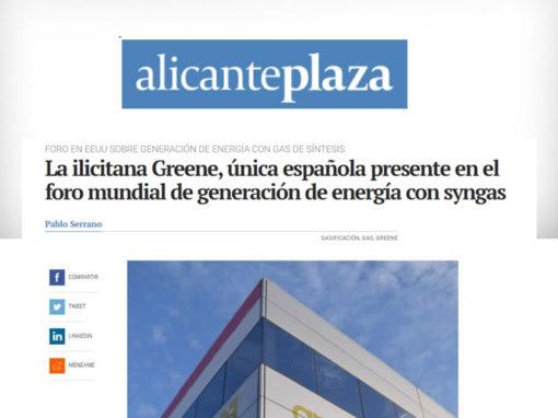 La ilicitana Greene, única española presente en el foro mundial de generación de energía con syngas