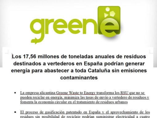 Los 17,56 millones de toneladas anuales de residuos destinados a vertederos en España podrían generar energía para abastecer a toda Cataluña sin emisiones contaminantes