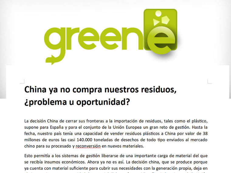 China ya no compra nuestros residuos, ¿problema u oportunidad?
