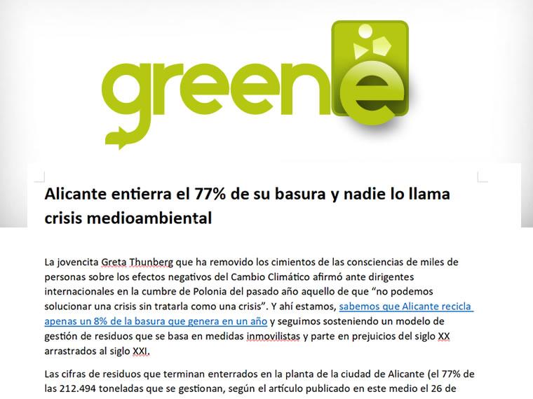 Alicante entierra el 77% de su basura y nadie lo llama crisis medioambiental