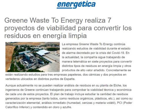 Greene Waste To Energy realiza 7 proyectos de viabilidad para convertir los residuos en energía limpia